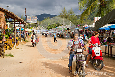 Local market in Khao Lak, Thailand Editorial Photography