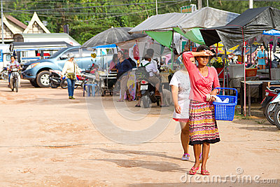 Local market in Khao Lak, Thailand Editorial Stock Photo