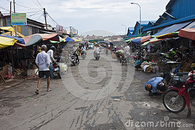 Local market Editorial Stock Photo