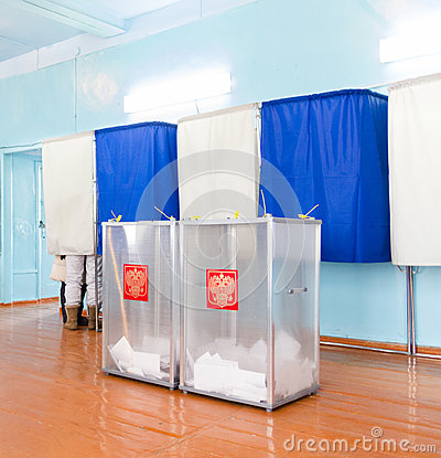 Free Local Polling Station, Presidential Elections In Russia Royalty Free Stock Photo - 79167445