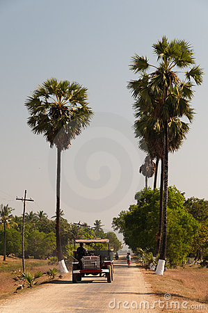 Local transport at Bilu Island, Myanmar