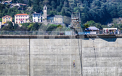 Locarno Dam - Bungee Jumping Platform Editorial Photo
