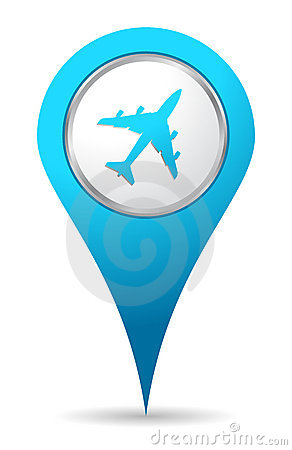 Location airplane icon