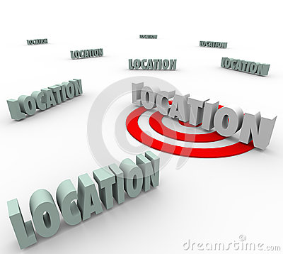 Location 3d Words Best Place Live Work Real Estate