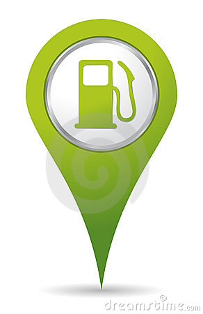 Location gas pump icon