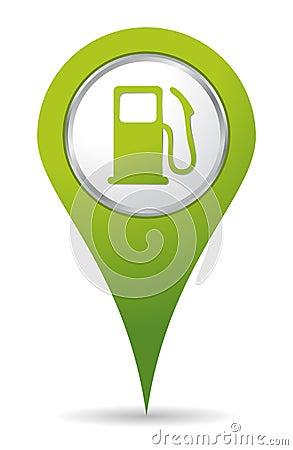 Location gas pump icon