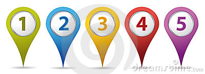 Location number pins