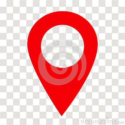 Free Location Pin Icon On Transparent. Location Pin Sign. Flat Style. Royalty Free Stock Photography - 117283757