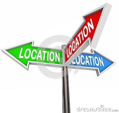 Location Thre Arrow Signs Priority Area Property