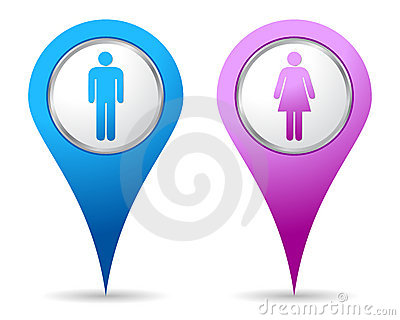 Location woman men icon
