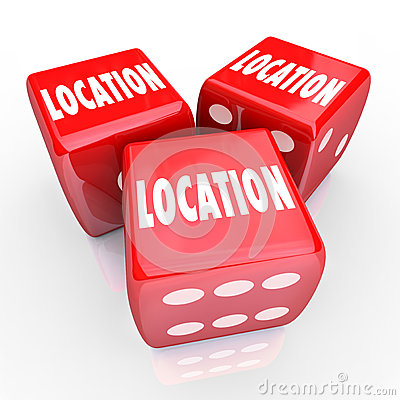 Location Words Three Dice Gamble Best Place Area