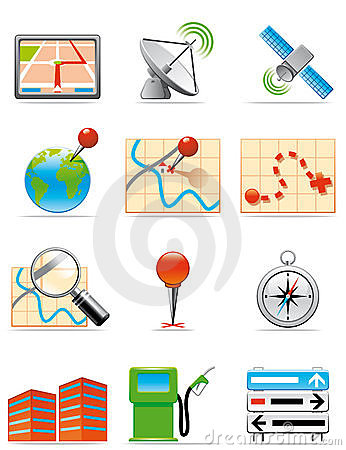 Free Locations Icons Stock Photo - 10039050