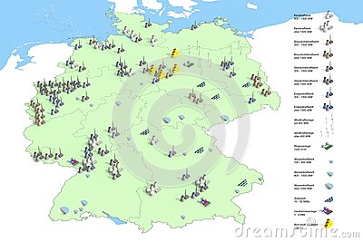 Locations power plants in Germany