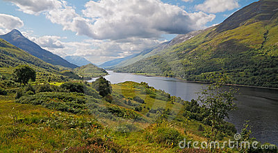 Loch Leven in the Highlands