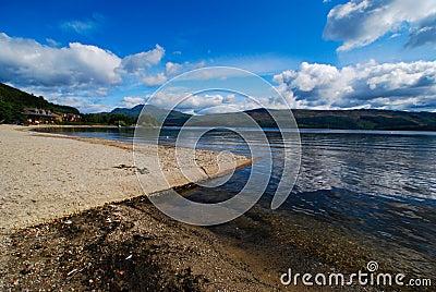 Loch Lomond view across the lake