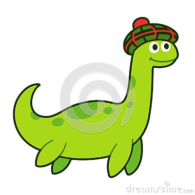 Free Loch Ness Monster In Traditional Scottish Bonnet Royalty Free Stock Photo - 144220775