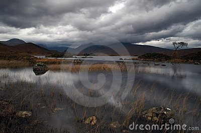 Loch in Scottish highlands
