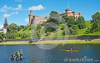 Lochness Monster on River Ness Editorial Image