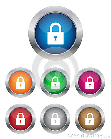 Free Lock Buttons Stock Photo - 25698250
