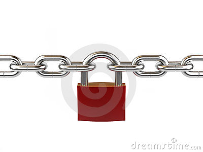 Lock and chain.