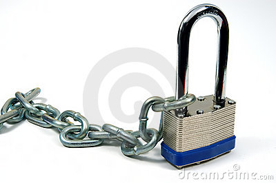 Lock and Chain 3 Stock Photo
