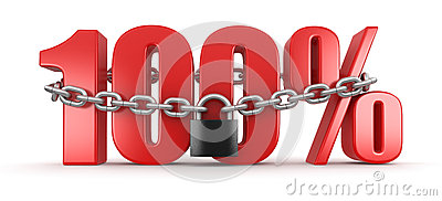 100  and lock (clipping path included)
