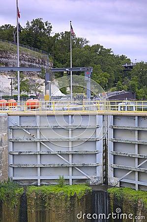 Lock and Dam Gates Closed