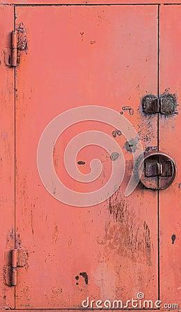 The lock on gate