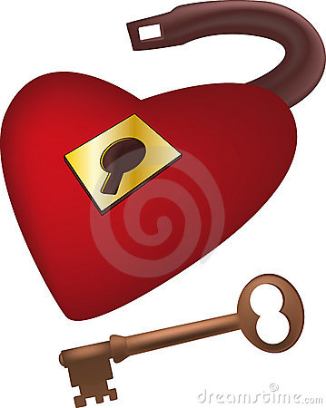 Lock from heart of the beloved