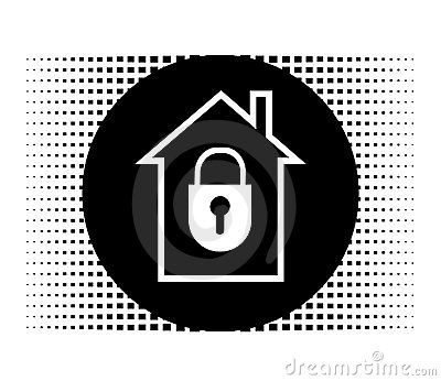 Lock House Icon Royalty Free Stock Photo - Image: 21811795