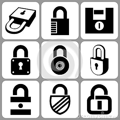 Free Lock Icons Royalty Free Stock Images - 30904129