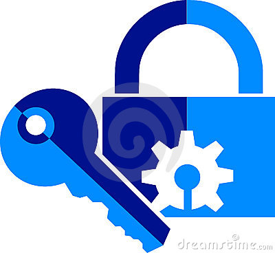 Lock and key logo