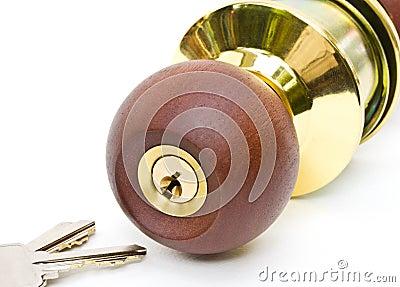 Lock knob.