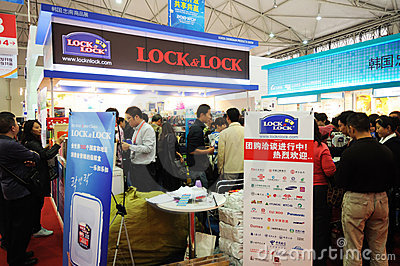 Lock & lock booth Editorial Stock Photo