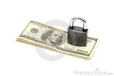 Lock and money