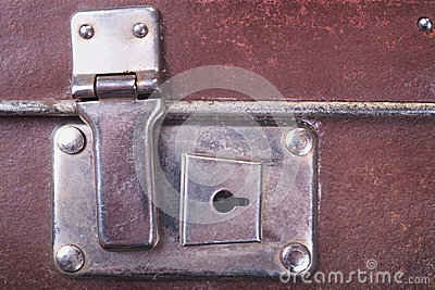Lock of an old suitcase