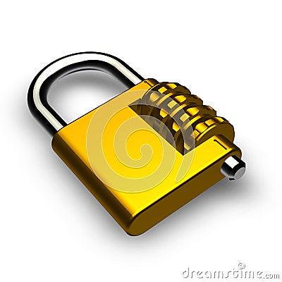 Lock with password