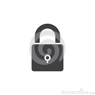 Free Lock, Password Icon Vector, Filled Flat Sign, Solid Pictogram Isolated On White. Stock Image - 95334851