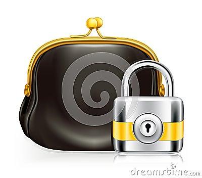 Lock and purse