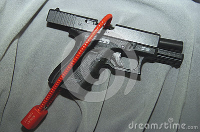 Lock securing gun