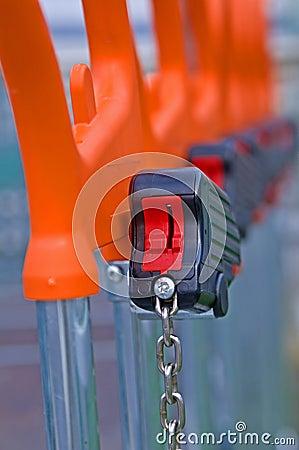 Lock of shopping cart