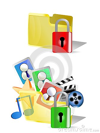Lock and unlock folder  Internet Icons