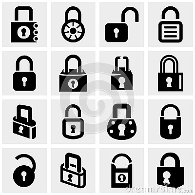 Free Lock Vector Icons Set On Gray Royalty Free Stock Image - 36696776