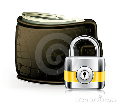 Lock and wallet