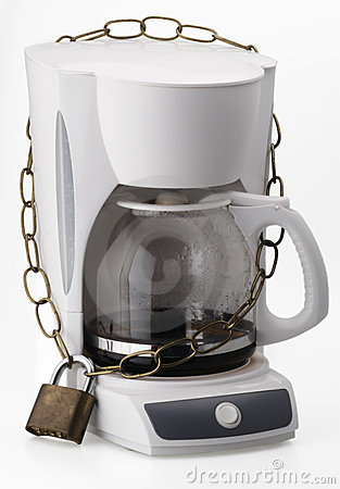 Free Locked Coffeemaker Royalty Free Stock Images - 4847069