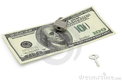 Locked Dollar With Key Royalty Free Stock Photography - Image: 7989557