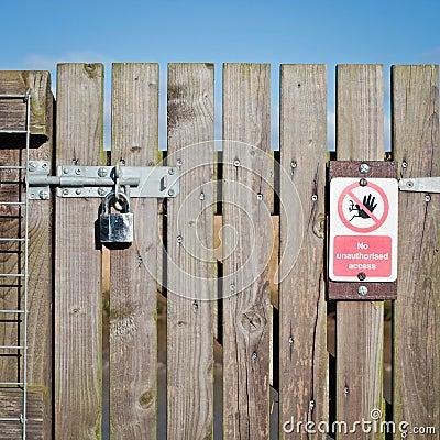 Free Locked Gate Stock Photo - 37036810