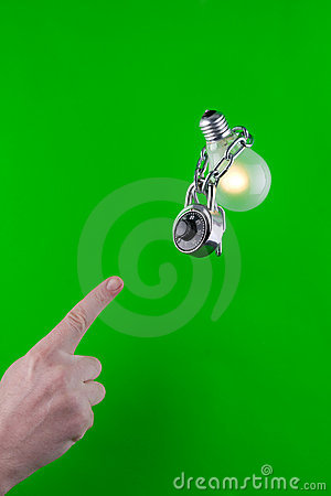 Locked Green Bulb