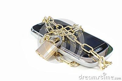 Locked mobile phone