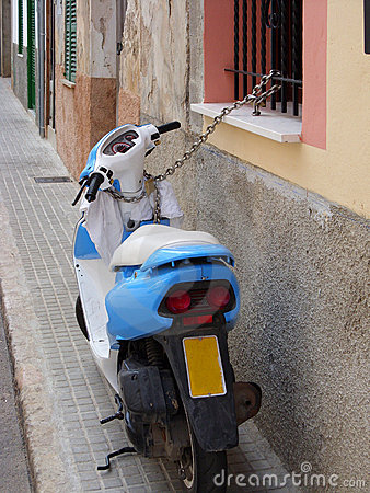 Locked scooter